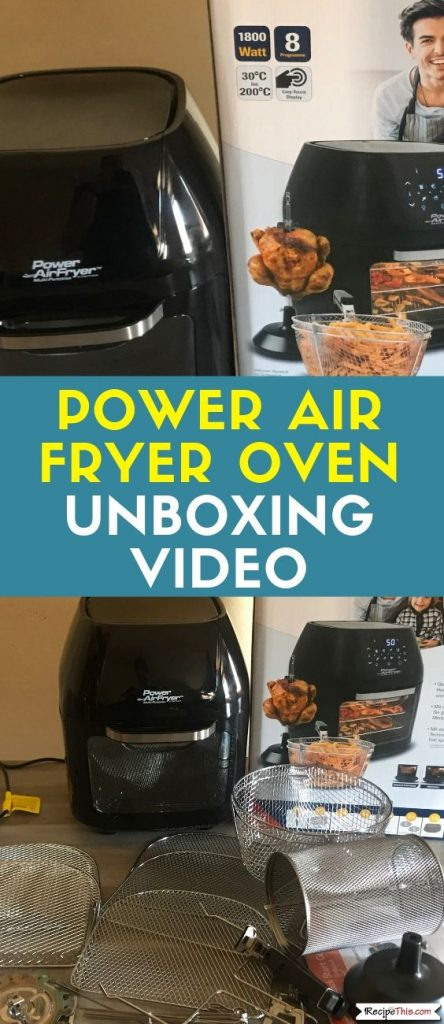Power Air Fryer Oven Unboxing Video