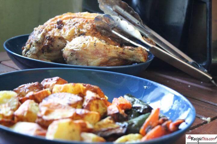 Roast Chicken Dinner In The Air Fryer