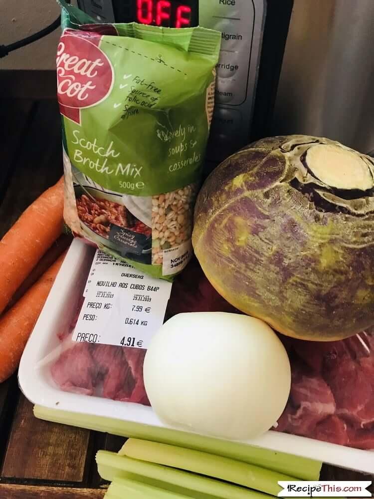 Scottish Beef Stew With Dumplings In The Instant Pot Ingredients