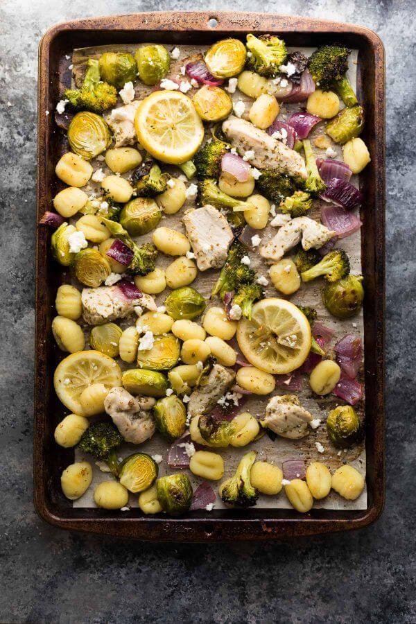 Sheet Pan Lemon Chicken Gnocchi