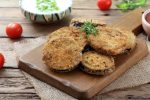 Welcome to our Slimming World recipe for this months Podcast. Today we are air frying aubergine. Delicious thick slices of in season aubergine with a delicious crust air fried and so crispy you will forget that they are not chips.
