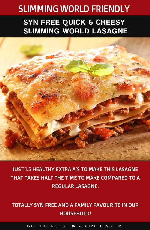 Slimming World Lasagne