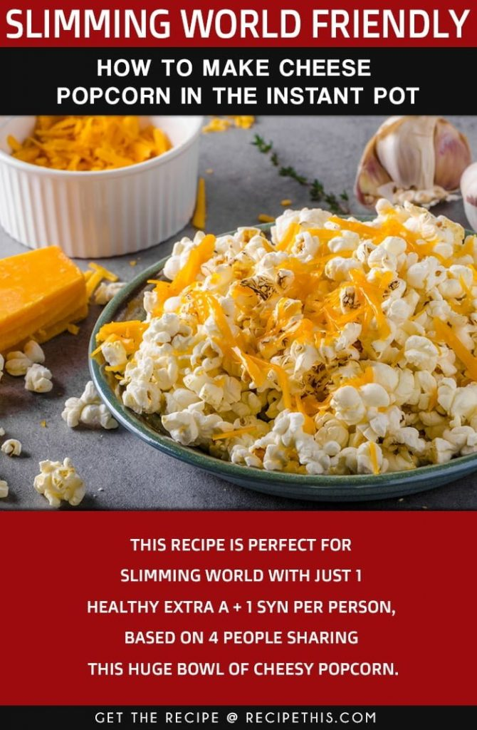 Low Calorie Cheese Popcorn
