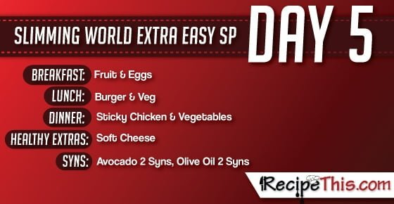 Slimming World | My Day 5 of a tailormade Slimming World SP Week brought to you by RecipeThis.com