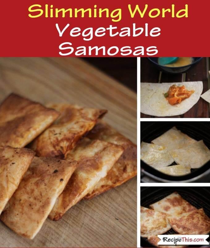 Syn Free Slimming World Vegetable Samosas