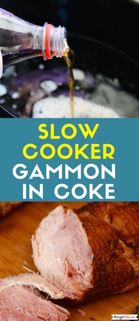 Slow Cooker Gammon In Coke slow cooker recipe