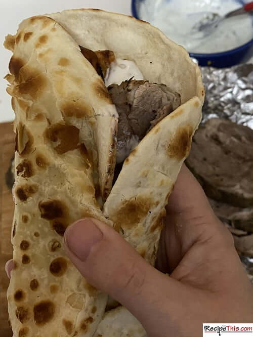 Slow Cooker Greek Lamb Flatbreads