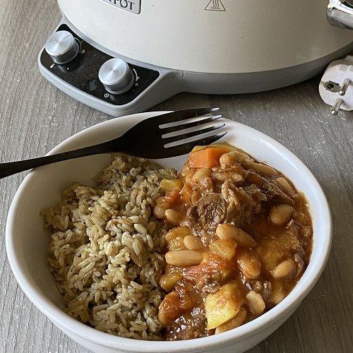 Slow Cooker Kuru Fasulye