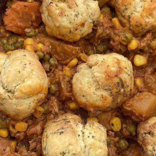 Slow Cooker Lamb Stew And Dumplings