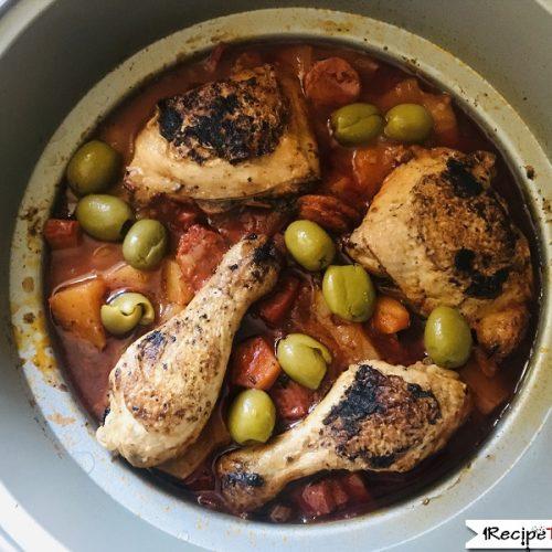 Slow Cooker Mediterranean Chicken Casserole