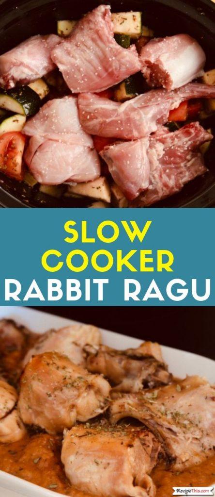 Slow Cooker Rabbit Ragu recipe