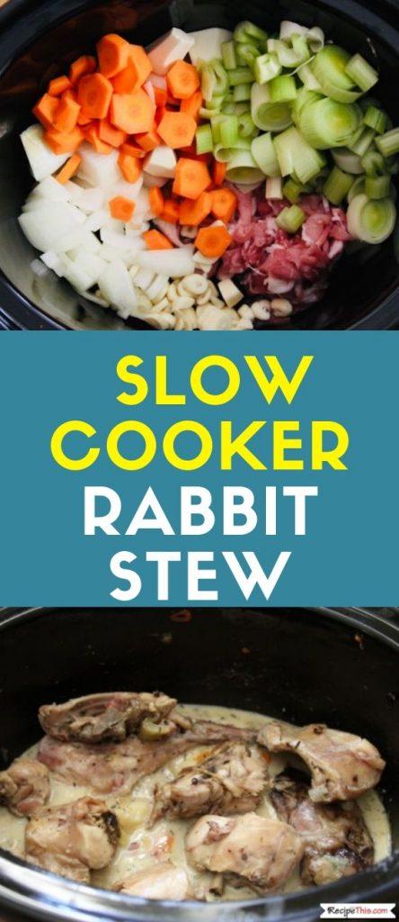 Slow Cooker Rabbit Stew Recipe