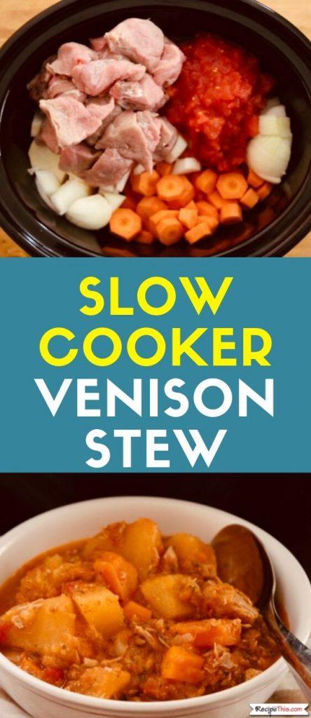 Slow Cooker Venison Stew recipe