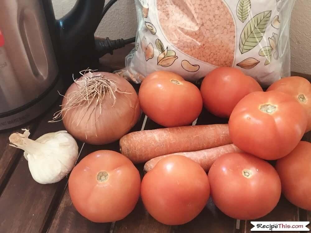 Soup Maker Lentil Soup Ingredients
