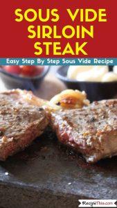 Sous Vide Sirloin Steak sous vide recipe