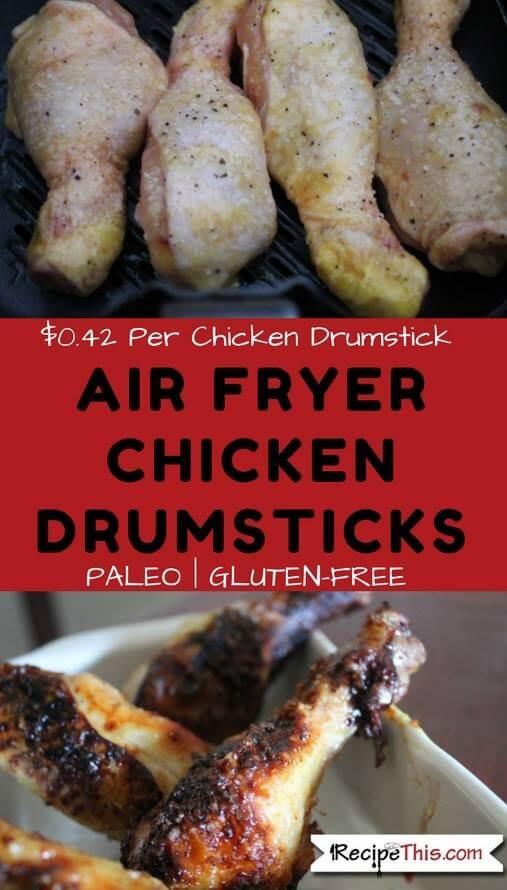 Sticky Air Fryer Chicken Drumsticks