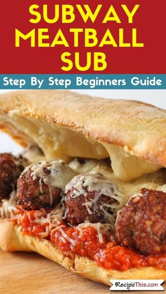 Subway Meatball Sub (air fryer copycat recipe)