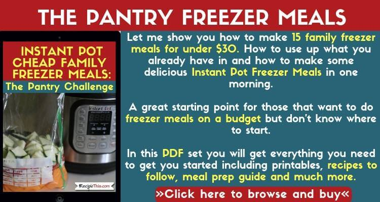 The Pantry Freezer Meals Pack