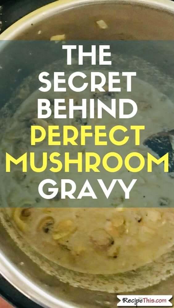 Pressure Cooker Pork Chops With Homemade Mushroom Gravy
