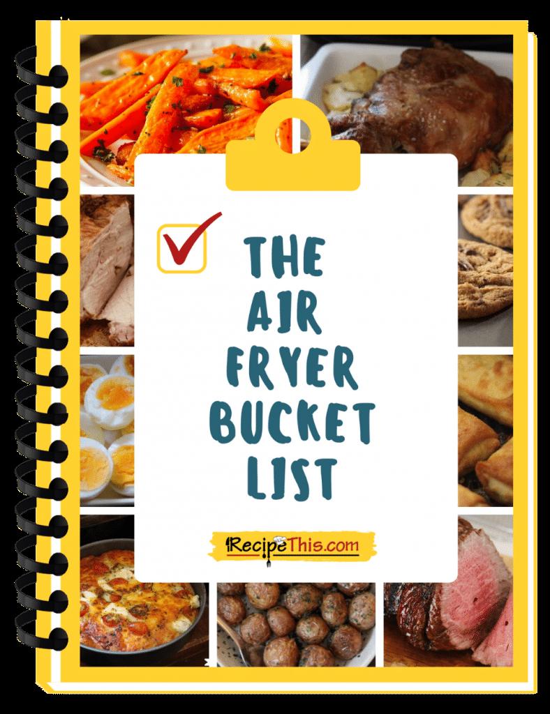 The air fryer bucket list ecover binder