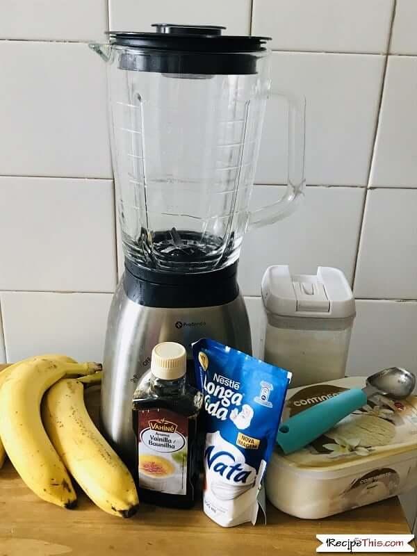 Thick Banana Milkshake Ingredients