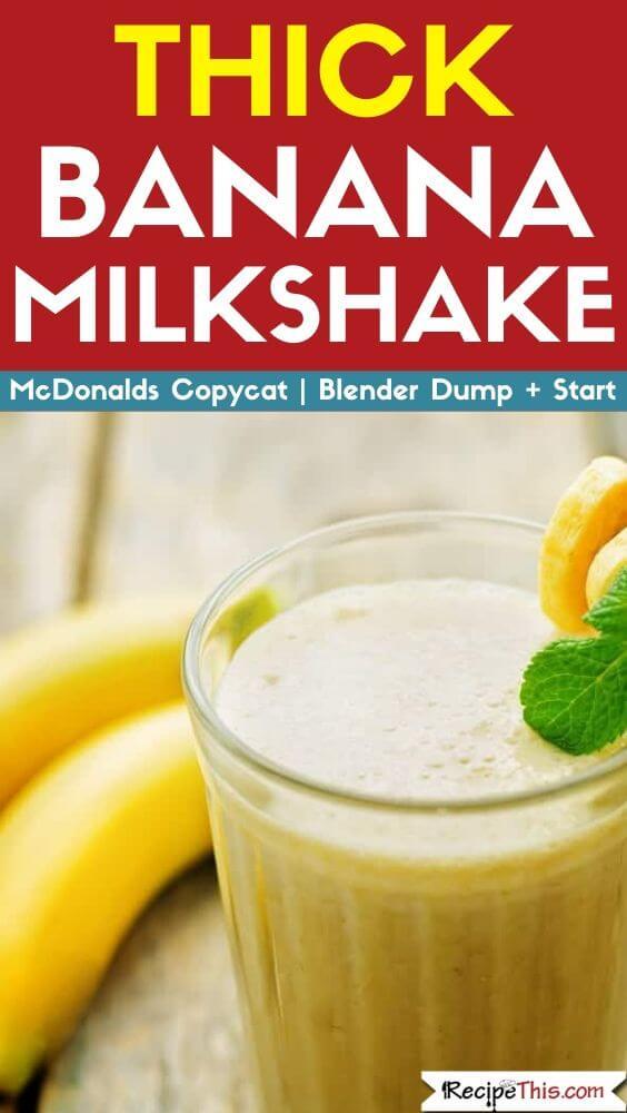 Thick Banana Milkshake blender