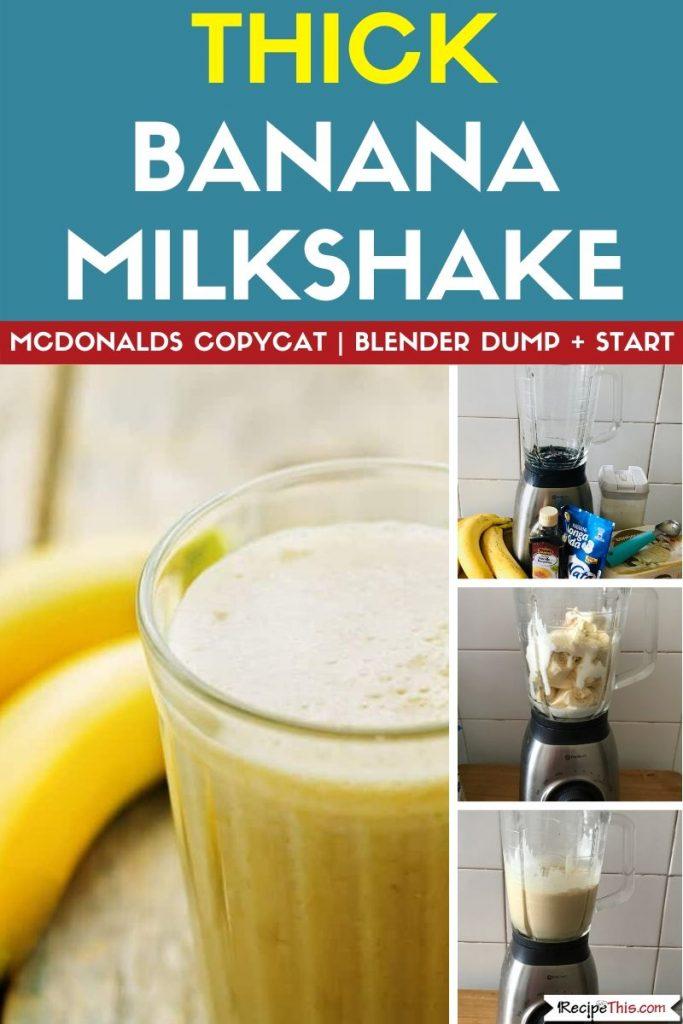 Thick Banana Milkshake step by step recipe