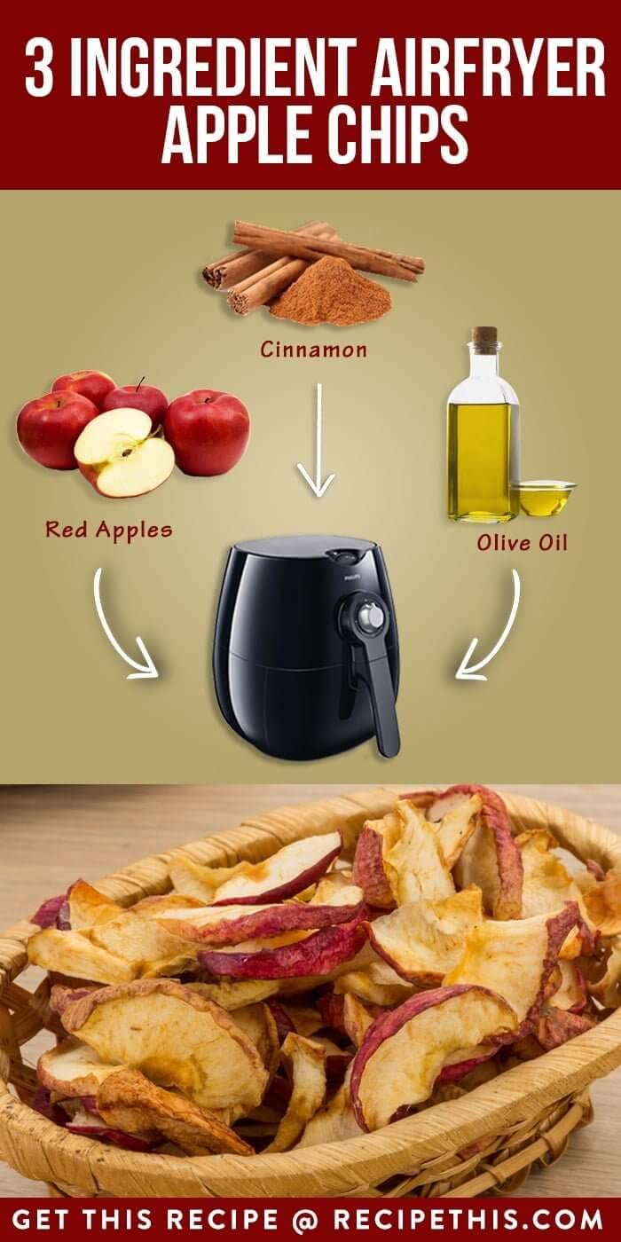 Three Ingredient Airfryer Apple Chips