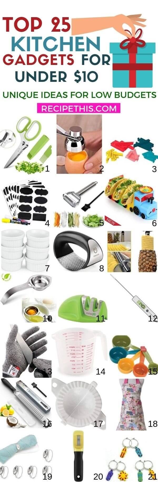 Top kitchen gadgets gift guide under 10 dollars