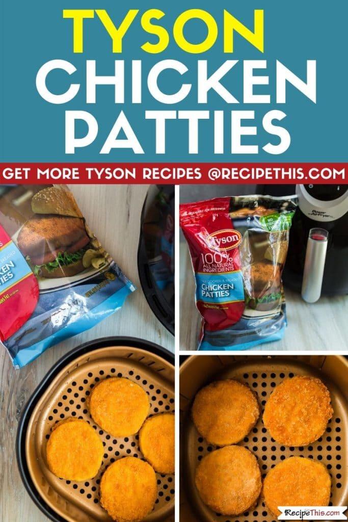Tyson chicken patties step by step