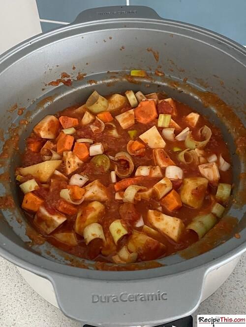 Vegetable Stew Ingredients