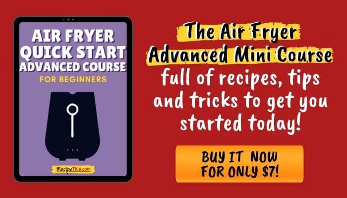 air fryer advanced mini course recipes and tips