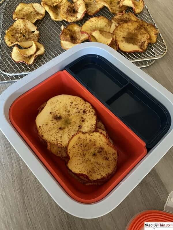 air fryer apple chips snack