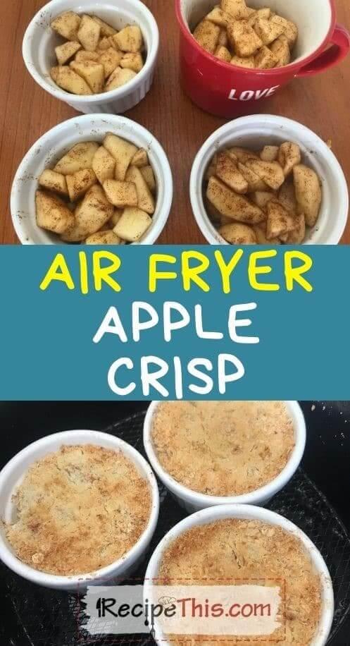 air fryer apple crisp at recipethis.com