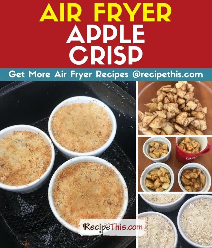 air fryer apple crisp step by step