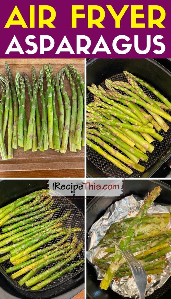 air fryer asparagus step by step