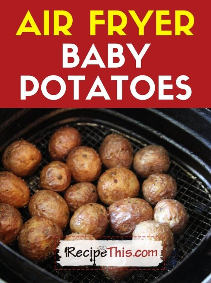 air fryer baby potatoes at recipethis.com