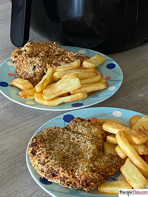 air fryer breaded pork chops and chips