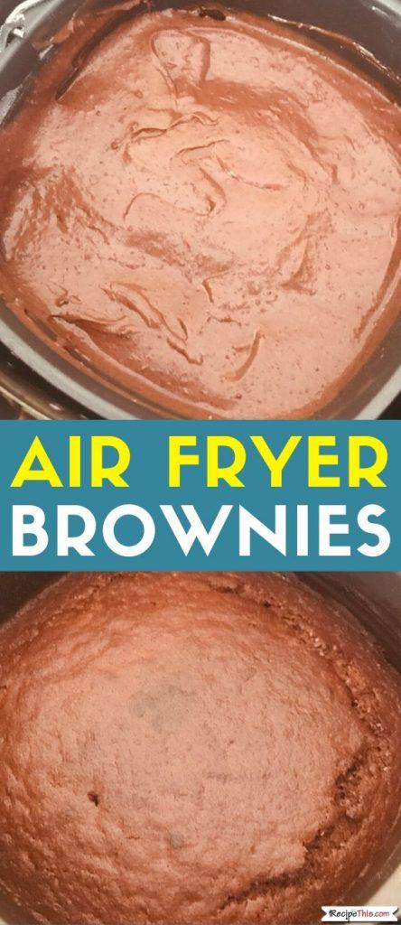 air fryer brownies recipe