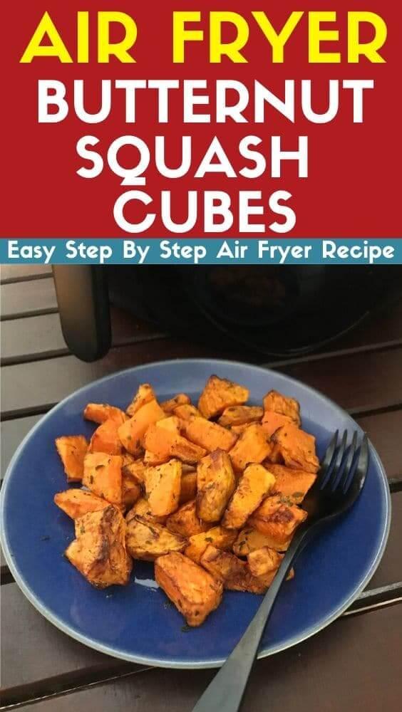 air fryer butternut squash cubes air fryer recipe