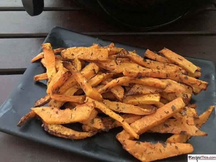 air fryer butternut squash fries