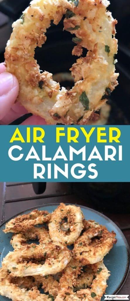 air fryer calamari rings at recipethis.com
