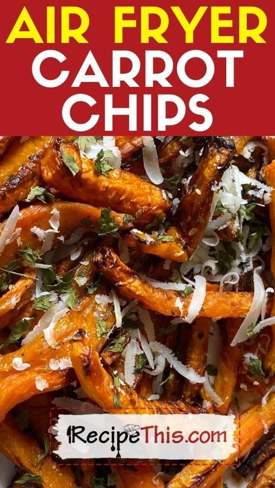 air fryer carrot chips recipe