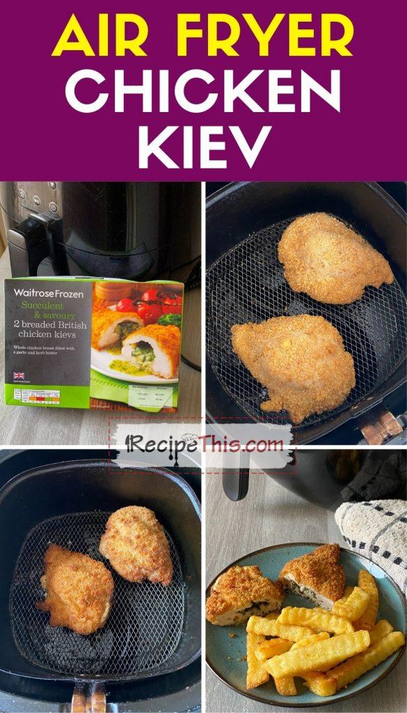 air fryer chicken kiev step by step