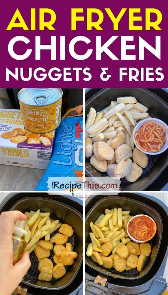 air fryer chicken nuggets and fries step by step