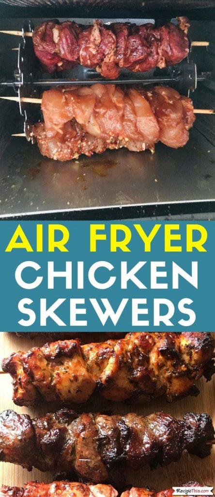 air fryer chicken skewers recipe
