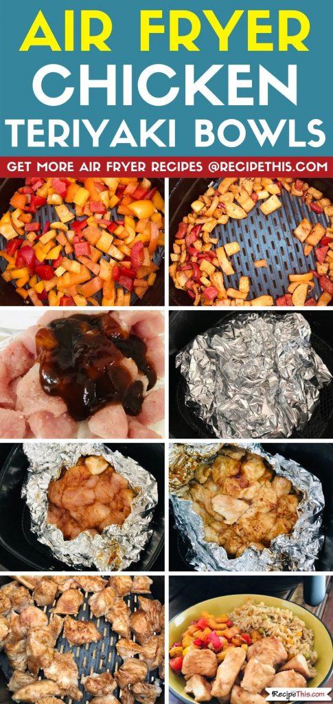 air fryer chicken teriyaki bowls step by step
