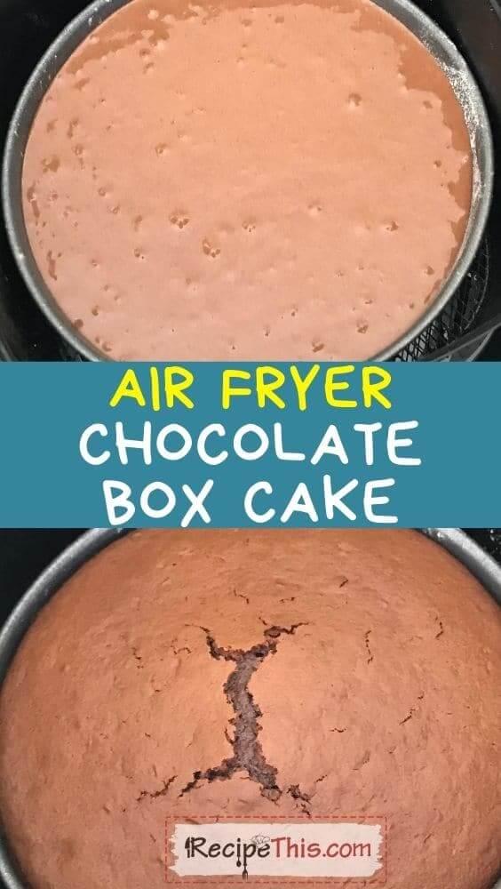 air fryer chocolate box cake at recipethis.com