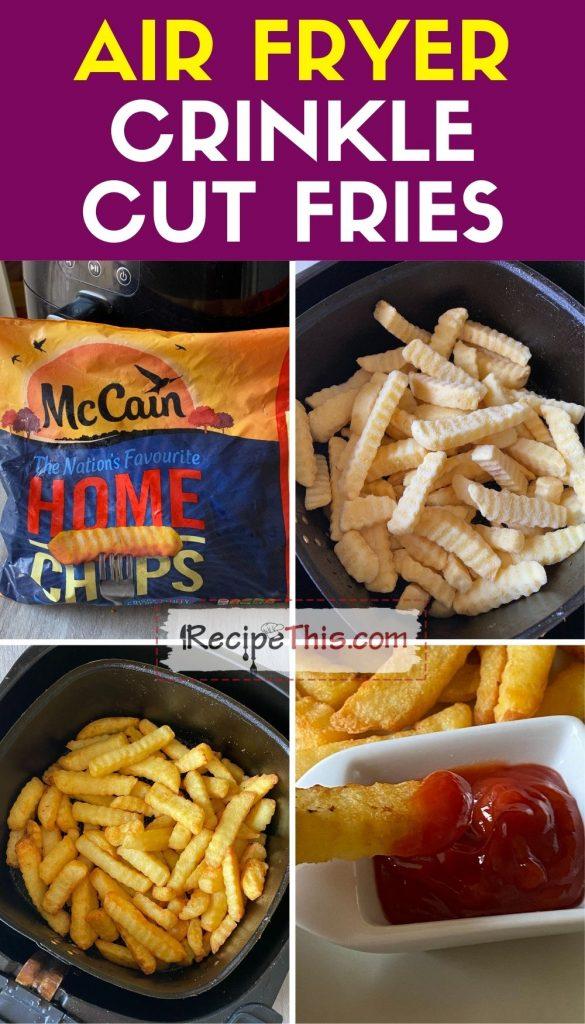 air fryer crinkle cut fries step by step