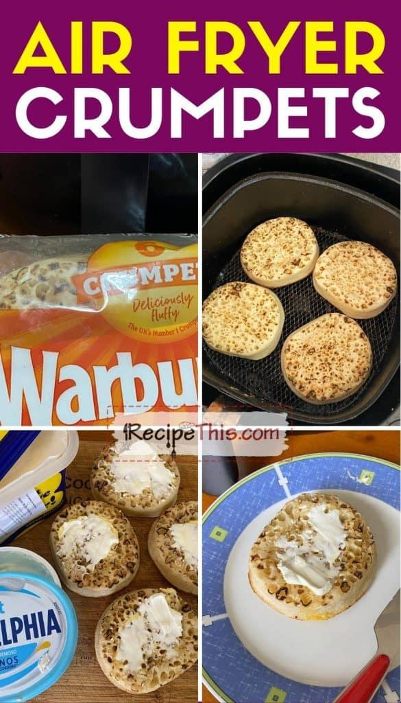 air fryer crumpets step by step